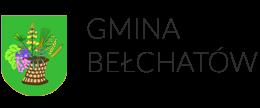Herb gminy Bełchatów przedstawia w polu zielonym kosz w barwie naturalnej. W nim kłosy pszenicy, owsa, żyta, kwiat łubinu oraz liść i owoce winorośli