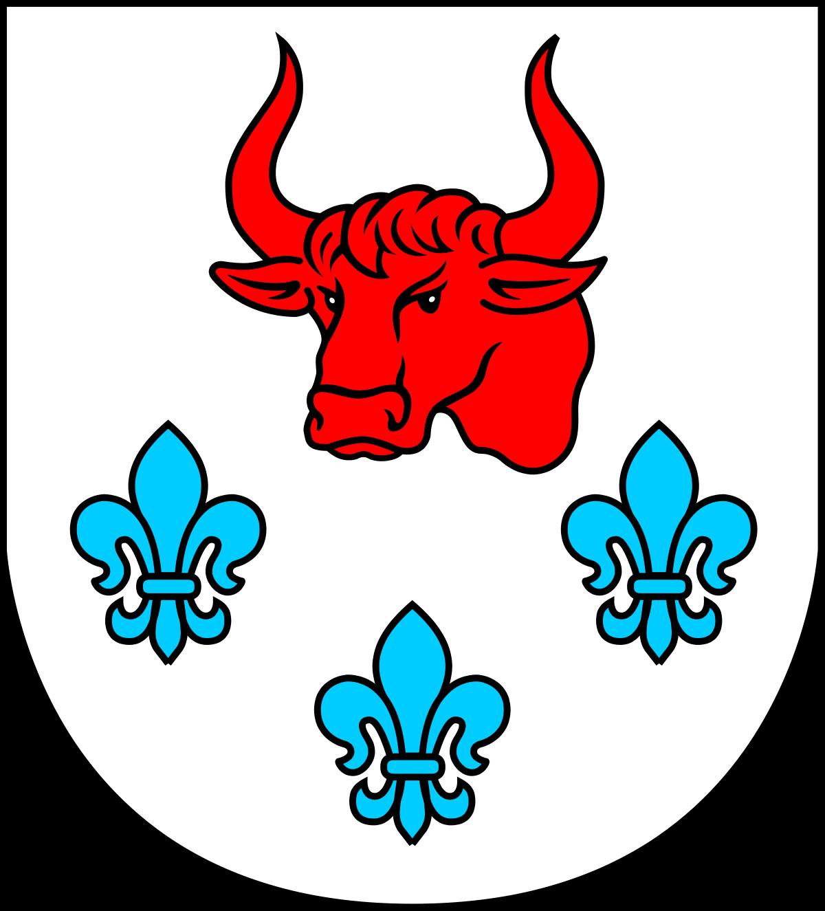Herbem gminy Turek jest czerwony łeb tura w srebrnym (białym) polu, poniżej którego znajdują się trzy błękitne lilie.