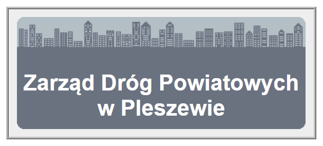 napis Zarząd Dróg Powiatowych w Pleszewie