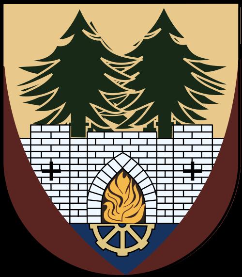 Herb Gminy Murów zawarty jest w tarczy wczesnogotyckiej, zbliżonej formą do tarcz stosowanych na Śląsku w połowie XIII wieku (zwanych starofrancuskimi), wypełniającej tarczę tłową, gotycką w barwie czerwonej. Tarcza wnętrza ukazuje, w dolnej części, srebrny mur (symbolizujący znak rycerski) z dwoma krzyżowymi, czarnymi wziernikami i ostrokołowy portal (brama muru), we wnętrzu czerwony, z kamiennym obramieniem. Spoinowanie muru jest w kolorze błękitu. Wnętrze czerwonego portalu wypełnia palący się, wielki ogień symbolizujący zarazę lub spalenie, co stało się powodem, że na jakiś czas Murów przestał istnieć. U dołu portalu znajduje się pół zamachowego koła napędowego w kolorze złota, nawiązującego do dawnych wzorów. Pole górne tarczy - czoło jest w barwie złota i stanowi element określający w herbie hełm rycerski, koronę - oznakę autorytetu, władzy i symbol przynależności. W polu tym osadzono także dwa, poszerzające się drzewa iglaste - świerki, w kolorze zieleni, symbolizujące wielką wartość, wyróżnik (75 % obszaru gminy porastają lasy istniejące od niepamiętnych czasów).