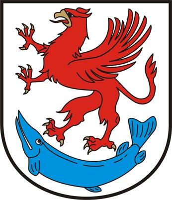 Herb Powiatu Stargardzkiego jest herbem jednopolowym umieszczonym na tarczy hiszpańskiej na srebrnym (białym) polu. W polu tym znajduje się czerwony wspięty gryf pomorski ze złotym dziobem i złotymi pazurami, na błękitnej rybie (szczupaku).