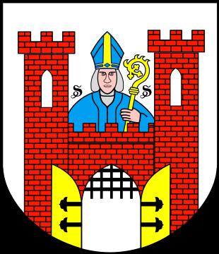 Na obrazku widnieje herb Solca Kujawskiego. Herb przedstawia na srebrnym polu gotyckiej tarczy herbowej bramy miasta, składające się z dwóch ceglanych, czerwonych wież blankowanych, połączonych czerwonym, ceglanym, blankowanym murem. W każdej z wież znajduje się wąska srebrna strzelnica, natomiast w murze łączącym wieże srebrna brama z otwartymi złotymi wrotami, posiadającymi po dwa czarne okucia każde. W bramie czarna krata (brona) opuszczona do 1/3 wysokości. Powyżej linii muru znajduje się wizerunek (popiersie) świętego Stanisława Biskupa i Męczennika – patrona Polski oraz miasta. Postać świętego jest w błękitnych szatach i również błękitnej infule z elementem złotym. Trzyma on w lewej ręce złoty pastorał. Po obu stronach głowy świętego widnieją dwie litery S, będące skrótem łacińskich słów Sanctus Stanislaus (pol.: Święty Stanisław).