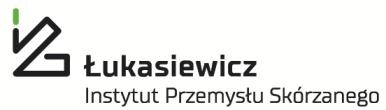 Logo Sieci Badawczej Łukasiewicz - Instytutu Przemysłu Skórzanego
