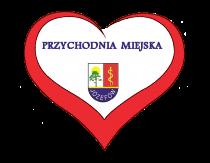 Logo przychodni miejskiej w kształcie serca z herbem Józefowa.