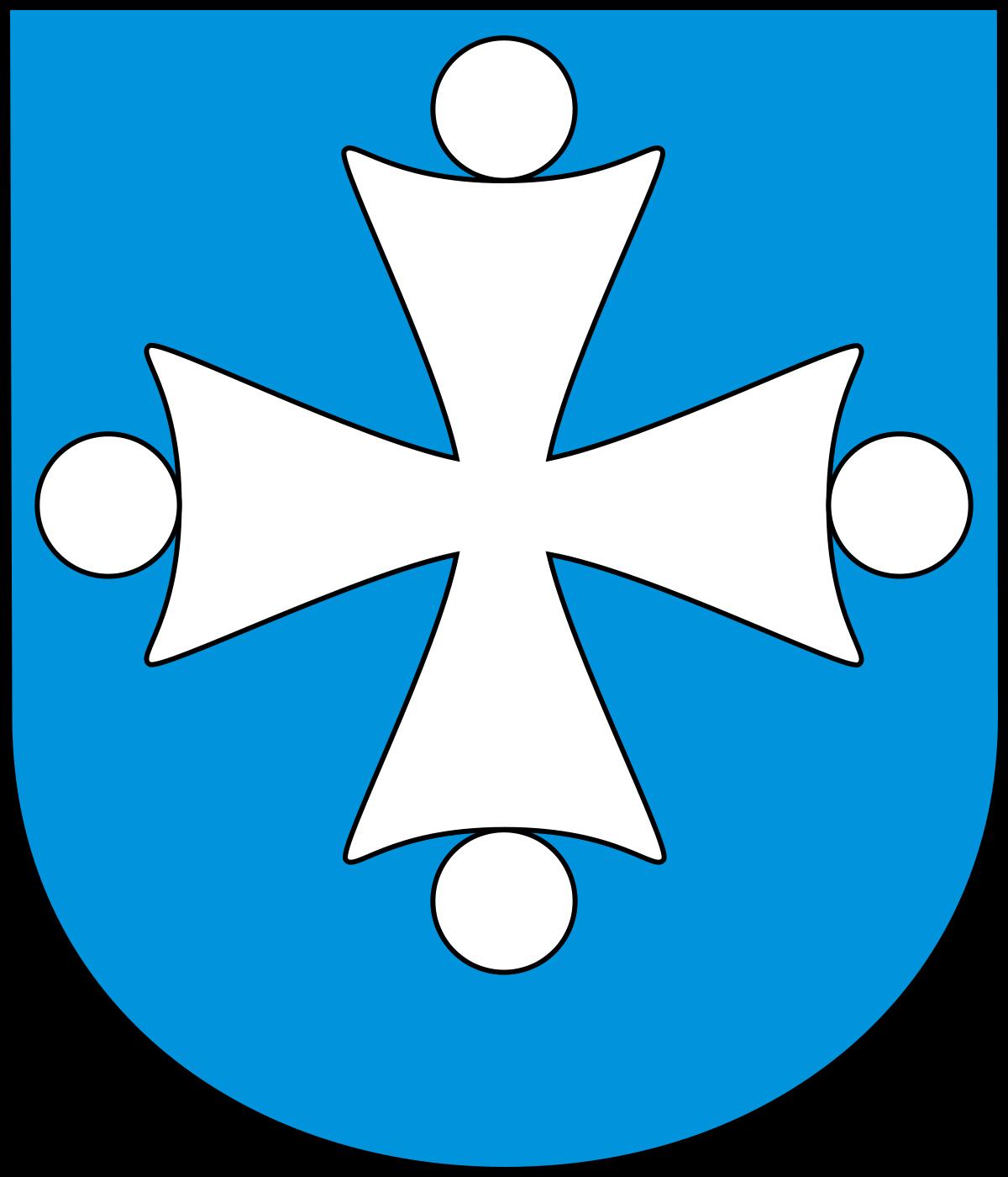 zasadniczym motywem herbu Brudzewa jest krzyż kawalerski (maltański) i widoczne cztery kule umieszczone na ramionach owego krzyża.